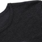 Buy Trendy Slimming Round Neck Flocky Night Owl Jacquard Long Sleeves Men's Knitwear BLACK