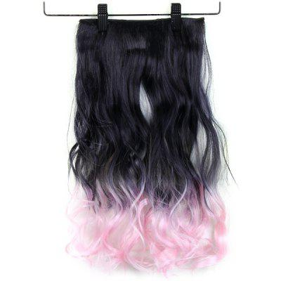 Gradient Color Long Periwig Curl Haircut for Ladies