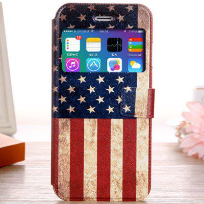 Fashionable Stars and Stripes Pattern PU and TPU Case Cover for iPhone 6  -  4.7 inches