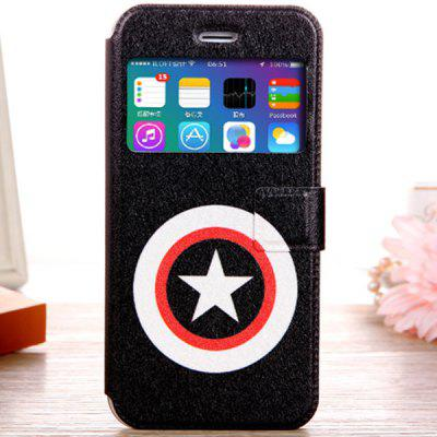 Fashionable Pentagram Pattern PU and TPU Case Cover for iPhone 6  -  4.7 inches