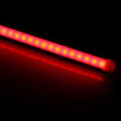 50CM 36 SMD 5630 LEDs 12W 1200Lm Wiring Red LED Tube Light with Milky Sheating  -  620  -  622nm
