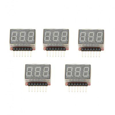 5Pcs 1S  -  6S LED Lipo Battery Voltage Indicator Tester Checker