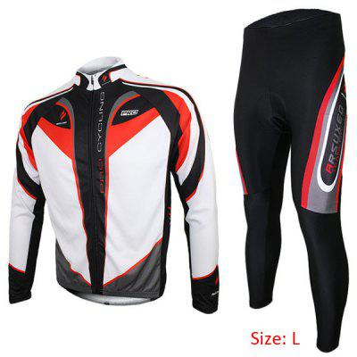 Arsuxeo C01 Men Cycling Suit Jersey Jacket Pants Kit Long Sleeve Bike Bicycle Outdoor Running Clothes
