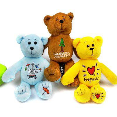 1 Piece of Teddy Bear PP Cotton Stuffed Animal Toy Doll Birthday Festive Gift
