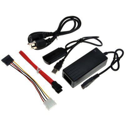 Multifunctional USB2.0 to IDE SATA 2.5 3.5 inch HDD / CD Drive / DVD Converter Power Cable