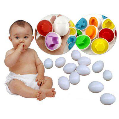 6Pcs Cognitive Egg Matching Blocks Intelligence Toy for Kids
