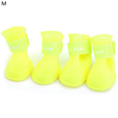 4pcs Comfortable Pet Dog Boots Shoes Anti - skidding Outdoor Footwear