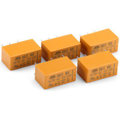 HK19F  -  DC12V  -  SHG 5Pcs DIY 8Pin DIP Power Relays ( 1A AC 125V / 2A DC 30V )