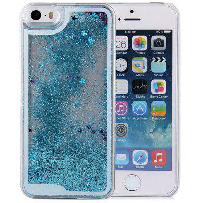 Hourglass Design Transparent PC Material Back Case for iPhone 5 5S