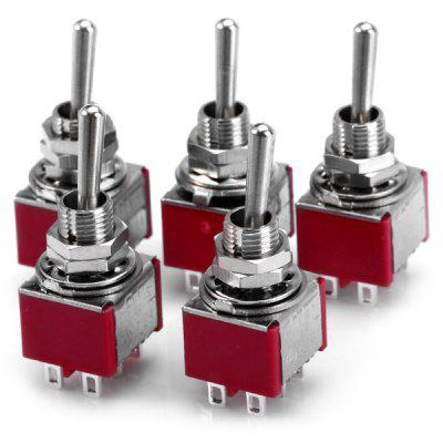 5Pcs High Performance 6Pin Toggle Switches for DIY Project  -  ( AC 250V 3A )