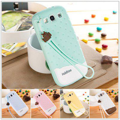 Fabitoo Novel Silicone Phone Cover Case with Lanyard for Samsung Galaxy S3 i9300
