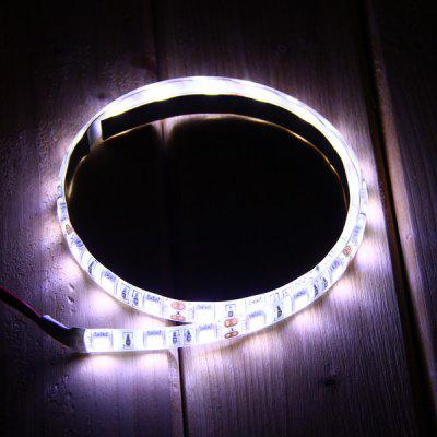 10W 50CM SMD 5050 30 LEDs 12V Water - resistant Flexible Car LED Strip Light  -  Pure White
