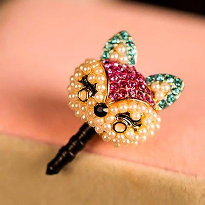 Fabitoo Phone 3.5mm Ear Cap Dustproof Plug with Fox Rabbit Shape