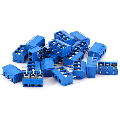 High Performance 300V 16A 3Pin 5.0mm Wire Terminal Blocks for DIY Project  -  20PCS