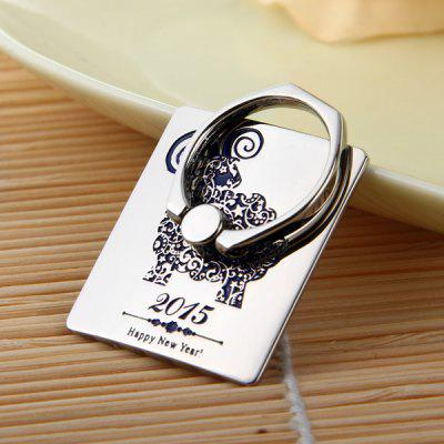 Adjustable Handheld Ring Phone Holder Carving Bracket
