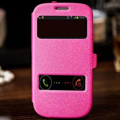 Fabitoo Phone Cover PU + PC Case with Stand Function Window for Samsung S3 i9300
