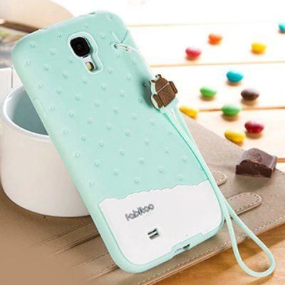 Fabitoo Novel Silicone Phone Cover Case with Lanyard for Samsung Galaxy S4 i9500