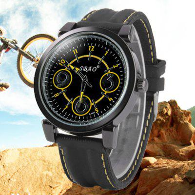 S - 1039 Big Number Dial Sports Watch with Bright Color Rubber Band