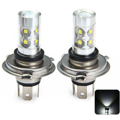 2 x Sencart P43T H4 P22D 3100Lm 50W 10 x Cree XPE LED Car Fog Bulb Running Light ( Pure White DC 12  -  24V )