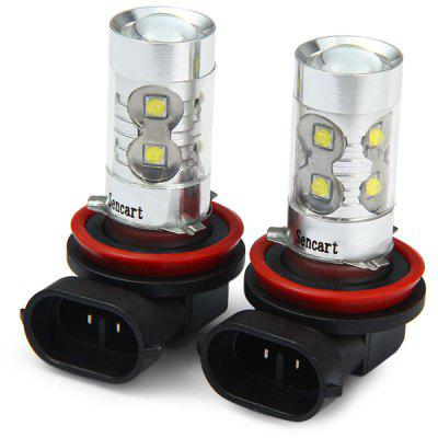 Sencart H8 PGJ191 50W Cree XPE 10 LEDs 3100Lm 6500  -  7500K LED Car Bulb Fog Light  -  2 Pcs