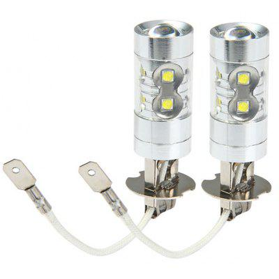 Sencart PK22S H3 50W Cree XPE 10 LEDs 3100Lm 6500  -  7500K Vehicle Brake Bulb Fog Light  -  1 Pair
