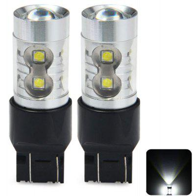 Pair of Sencart T20 7443 W21 21W W3X16Q 50W Cree XPE 10 LEDs 3100Lm 6500  -  7500K Vehicle Brake Bulb Turn Signal Lamp