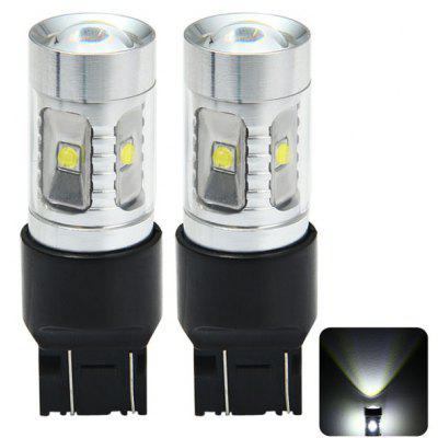 Pair of Sencart 7443 T20 W21 21W W3X16Q 2100Lm 30W 6 x Cree XPE 6500  -  7500K LED Car Brake Bulb Light Source ( DC 12  -  24V )