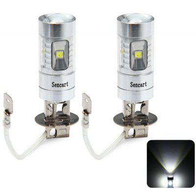 2 x Sencart PK22S H3 30W Cree XPE 6 LEDs 2100Lm 6500  -  7500K Vehicle Brake Bulb Fog Light