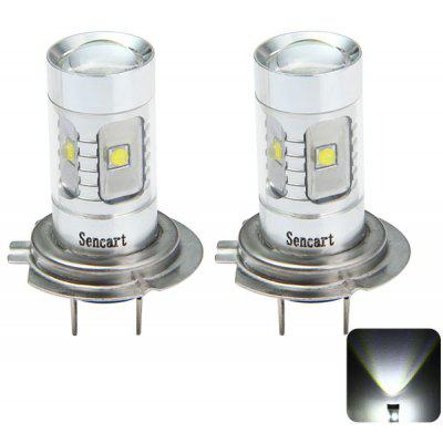 Sencart PX26D H7 2100Lm 30W 6 x Cree XPE LED Car Fog Bulb 6500  -  7500K Rear Light ( DC 12  -  24V 2 Pcs )