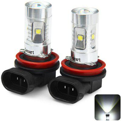 Pair of Sencart H11 PGJ192 2100LM 30W 6 Cree XPE LEDs Car Fog Driving Bulb ( 6500  -  7500K )