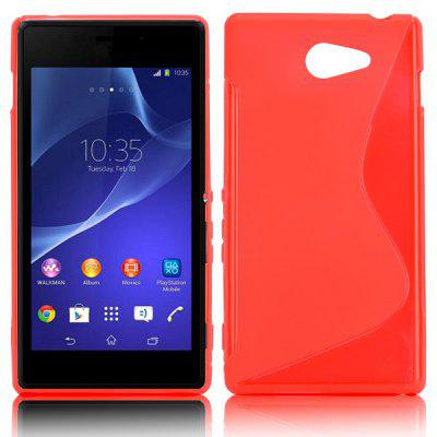 S Shape TPU Back Cover Case for Sony Xperia M2 D2305 D2302 S50h