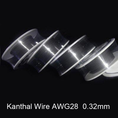 0.32mm Diameter 28 Gauge Kanthal Resistance Wire Roll E - cigarette Coils for Atomizers DIY (30 Feet)