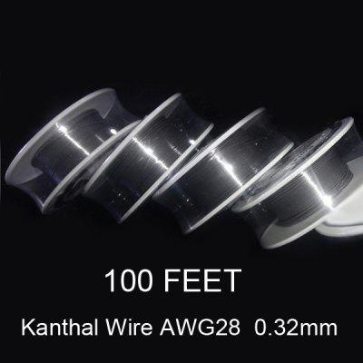 0.32mm Diameter Kanthal Resistance Wire Roll E - cigarette Coils for Atomizers DIY ( 100 Feet )