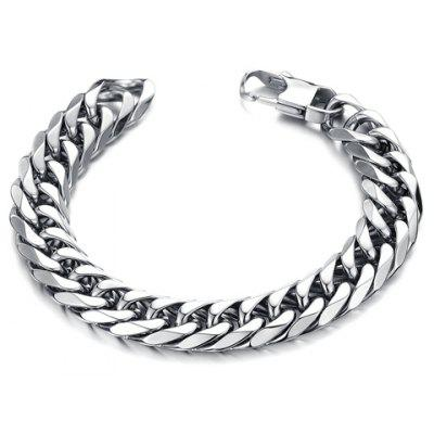 Stylish Solid Color Link Chain Bracelet For Men