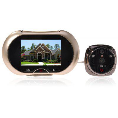 3.7 inch LCD Digital Smart Door Viewer Doorbell with Security Camera