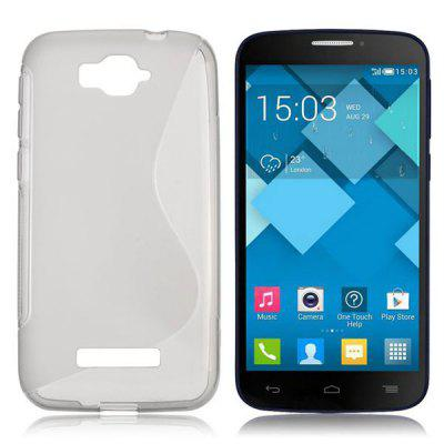 S Shape TPU Back Cover Case for Alcatel One Touch Pop C7 OT - 7040D