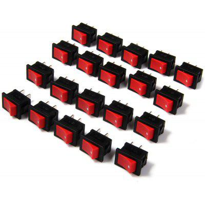 20Pcs High Performance Electronic DIY AC 250V 6A 2Pin Rocker Switch