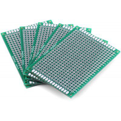 High Performance 5 x 7cm Double Sided Glass Fiber Prototyping PCB Breadboard for DIY Project  -  5PCS