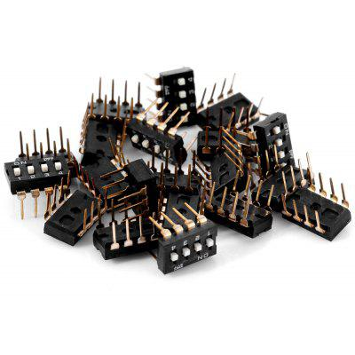 20Pcs High Performance DIY 4 Position 8Pin 2.54mm Pitch DIP Switches ( DC 12V 50mA )