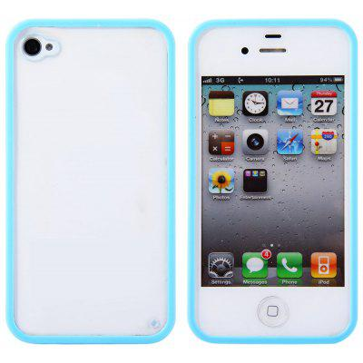 Transparent Style Protective Back Cover Case with PC Material Solid Color Bumper Frame for iPhone 4 / 4S