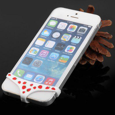 Soft Silicone Strawberry Underwear Home Button Case for iPhone 6 / 6 Plus 5 / 5S 4 / 4S