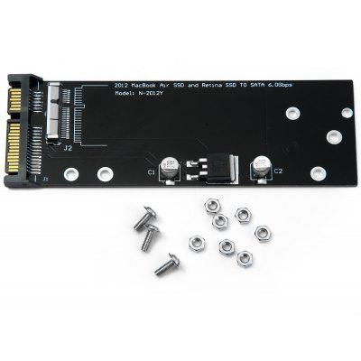 SA - 160 17pin 7pin 6.0Gbps SDD to SATA Adapter Board for 2012 Macbook Air Retina