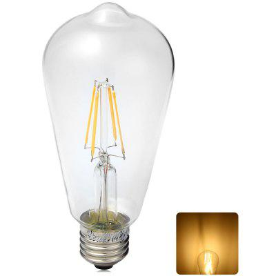 YouOKLight 380LM E27 4W 3000K 85  -  265V 4 LEDs COB Bulb Light Sapphire Filament Bulb