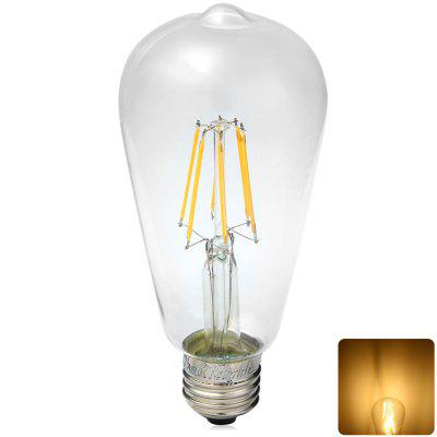 YouOKLight E27 6W 580Lm 85  -  265V 6 LEDs Nostalgic Teardrop Shaped COB Sapphire Filament Lamp  -  Soft White
