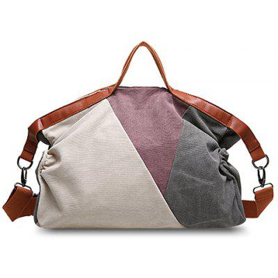 Trendy Color Block and Canvas Design Women's Tote Bag
