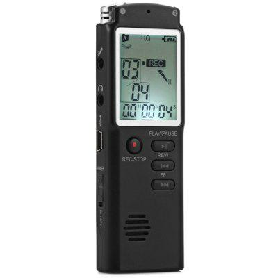 T60 8GB Handheld LCD Real Time Display Digital Voice Recorder MP3 Player for InterviewConsumer Electronics<br>T60 8GB Handheld LCD Real Time Display Digital Voice Recorder MP3 Player for Interview<br><br>Battery: 220mAh<br>Capacity: 8GB<br>Display: LCD Screen<br>Features: 2 in 1 LCD Real Time Display 8GB Digital Voice Recorder MP3 Player<br>Model: T60<br>Package Contents: 1 x T60 2 in 1 LCD Real Time Display 8GB Digital Voice Recorder MP3 Player, 1 x USB Cable, 1 x External Microphone, 1 x RJ45 Cable, 1 x 3.5mm Audio Cable, 1 x Earphone, 1 x Telephone Adapter, 1 x Engl<br>Package size (L x W x H): 15.50 x 8.50 x 4.50 cm / 6.1 x 3.35 x 1.77 inches<br>Package weight: 0.220 kg<br>Product size (L x W x H): 9.70 x 3.00 x 1.00 cm / 3.82 x 1.18 x 0.39 inches<br>Product weight: 0.040 kg<br>Recording Bit Rate: 192 Kbps<br>Recording Format: MP3<br>Recording Source: Telephone recording,Built-in MIC<br>Recording Time: High Quality Recording for 48 Hours / Normal Recording for 68 Hours<br>Special Functions: Real Time Display<br>Support System: Windows 2000 / XP / 7 / Vista