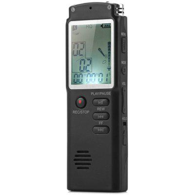 T60 8GB Handheld LCD Real Time Display Digital Voice Recorder MP3 Player for Interview