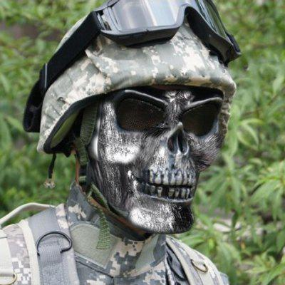 Emulational Warrior Full Face Skeleton Mask with Shock Resistant Function