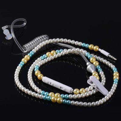 Pearl Style Single Earbud Spiral Anti - radiation Earphone