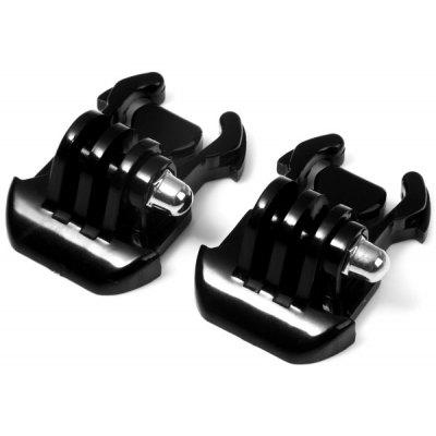 2pcs Black Buckle Basic Mount